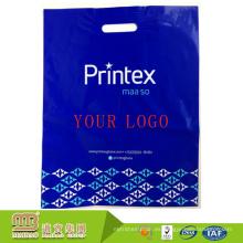 China Guangzhou Biodegradable Own Logo Design Die Cut Handle Full Color Printing forma personalizada bolsa de plástico al por mayor