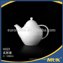 2016 modern restaurant royal cheao good quality white ceramic tea pot