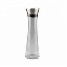 Pichet à eau en verre avec couvercle en acier inoxydable
