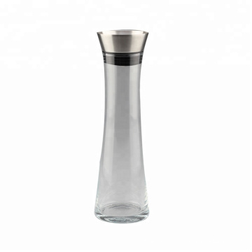 Glass Water Pitcher with Stainless Steel Lid