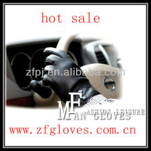 winter leather warm driving gloves men