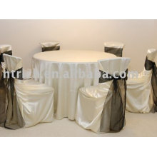 Satin fabric chair cover,satin bag chair cover, chair cover sash,hotel chair cover