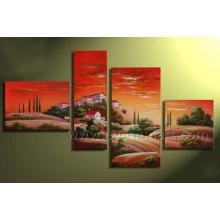 Handmade africano arte paisagem pintura a óleo