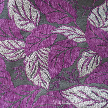 Jacquard Leaf Chenille 100% Polyester for Home Sofa