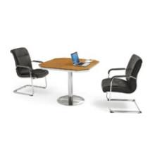 Mesa de madera pequeña Tabla de reuniones / recepción para oficina (FOH-QJ10-A)