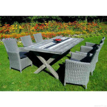 Garden Wicker Dining Set Patio Outdoor Rattan Furniture