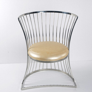No folded modern dinning chair with stainless steel frame