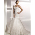 Eleganckie trąbki syrenka Sweetheart pasy Sweep Brush Pociąg Lace Tulle Wedding Dress
