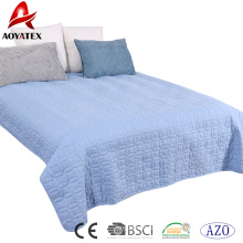 Sistema del consolador del color sólido de la costura de la venta de la fábrica, sistema del consolador de la cama casera 3pcs