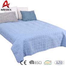 Venda de fábrica costura conjunto de consolador de cor sólida, 3pcs jogo de consolador de cama de casa