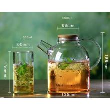 Handgefertigte hochwertige Glas Teekanne Kaffee Topf für Haushalt