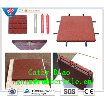 China Gold Supplier Wholesale Playground Rubber Tile, Rubber Floor Tile, Rubber Stable Tiles