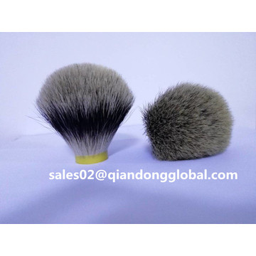 Bulb Shape Silvertip Badger Hair Knots