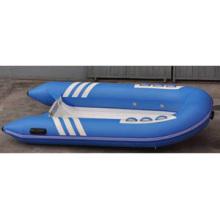 Verkauft gut blaue Farbe steifes Rumpf-Fiberglas-Material 2,7 m Länge 3-Personen-vielseitiges Funktions-Rippen-Boots-Schlauchboot mit CER China
