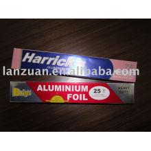 Enrole o papel alumínio colorido