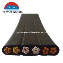 Cable de alimentación para el cable del recorrido de la grúa 24 * 0.75 cable plano del elevador 36 * 0.75