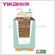 Promotional and popular wooden clothes hanger