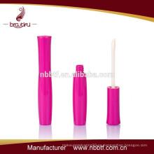 Plástico rosa caliente vacío labio brillo fábrica de envases