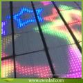 Luces interactivas vendedoras calientes de la teja del piso de Dance LED del vidrio templado