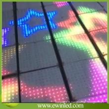Lumières interactives de tuile de plancher de danse en verre trempé de vente chaude LED
