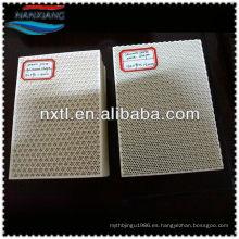 Placa de filtro de cerámica de nido de abeja para placa de cerámica porosa de gas / quemador