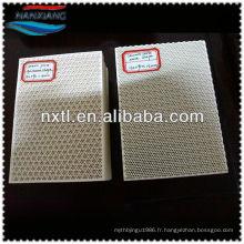 Plaque de filtre en céramique de nid d'abeilles pour la plaque en céramique poreuse de gaz / brûleur