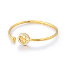 Bonito Laidy Fancy Designer Crystals Pave brazalete pulsera de mariposa