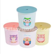 2017 Plastic PP summer round beach kids bucket children's beach toy beach plastic bucket for kids