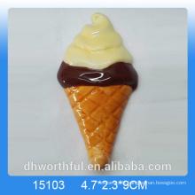 2016 Hot sale ceramic refrigerator magnet in ice cream shape