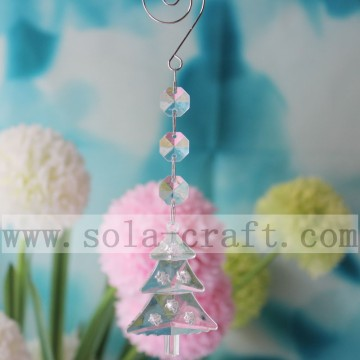 Beautiful Christmas Tree Shape Pendant And 14MM Octagon Beads Linked By Jump Ring And Bowtie