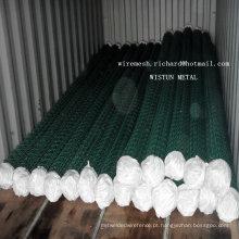 5X5cmmesh Abertura 6X6cm malha abertura PVC revestido de malha de arame