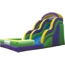 Outdoor Commercial Plastic Lldpe Long Inflatable Water Slide For Youth / Adult