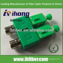 ST female SC apc male duplex fiber adapter