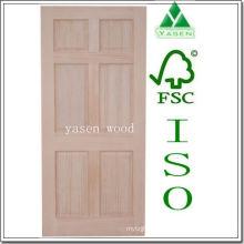 Porta de madeira interior do painel do pinho 6 da irradiação da fábrica