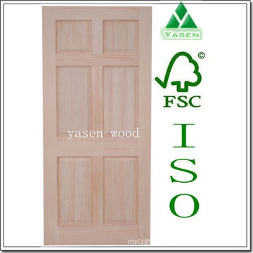 Factory Radiate Pine 6 Panel Interior Wooden Door