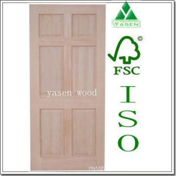 Factory Radiate Pine 6 Panel Interior Wooden Door