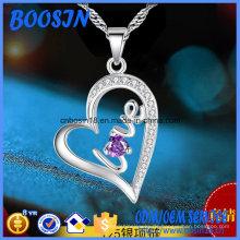 Silberne Halskette mit graviertem Liebesherz-Anhänger