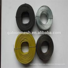 Pequeño alambre del lazo del Rebar de la bobina 3.5LBS / alambre recocido negro del lazo / alambre cuadrado de la bobina del agujero