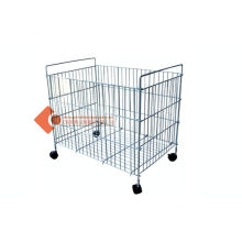 Small Warehouse Wire Container Storage Cages With Castor Ios Ce Sgs