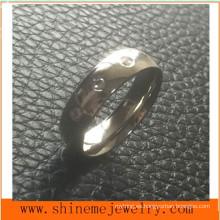 Joyería de moda 3 piedras de acero inoxidable dedo de la mano