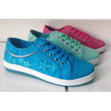 High Quality Lace up Canvas Shoes for Women (NU036)
