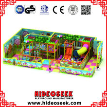 Candy Theme Soft Indoor Playground con tobogán tubular