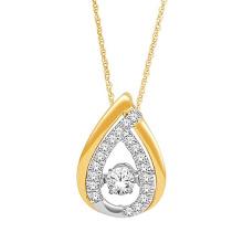 Plaqué or 925 Pendentifs en argent Jewelry Dancing Diamond