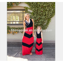 2017 Hot selling summer long mommy and me dress boutique clothing
