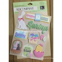 Customize 3D Dimensional Scrapbook Handmade Paper Craft Glitter Stickers