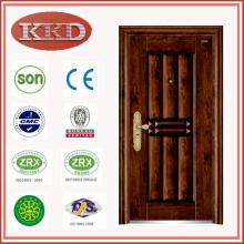 Роскошный дизайн, стали безопасности двери KKD-312 с вакуумной передачи отделкой из Китая