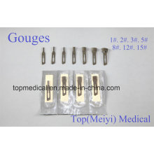 Gouge Blades Lames chirurgicales