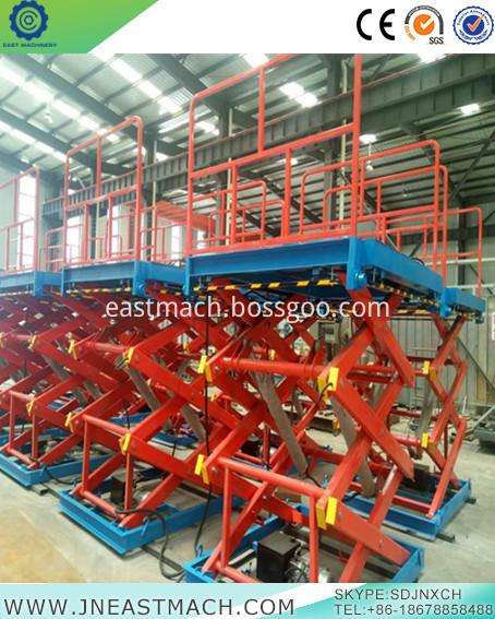 Hydraulic Lift Platform Stationary Scissor Lift Platform Hydraulic Raising Platform