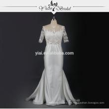 RSW739 Corsé transparente Fishtail vestido de boda india sexy
