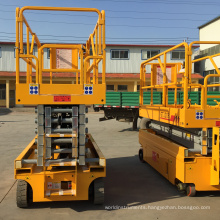 Hot sale self propelled hydraulic scissor man lift price